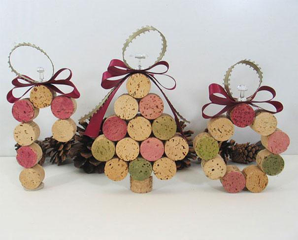Adornos navidad con corcho. Fuente: http://es.paperblog.com/