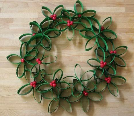 Guirnalda navidad de papel. Fuente: decorationhomepat