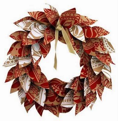 Guirnalda navidad papel y carton. Fuente: decorationhomepat