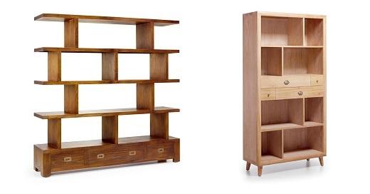 Librer as libreros y apilables de madera pr cticos y con for Libros de muebles de madera