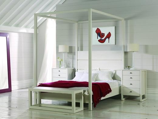 Camas con dosel de madera cama con dosel para nios hecha for Camas con dosel de madera