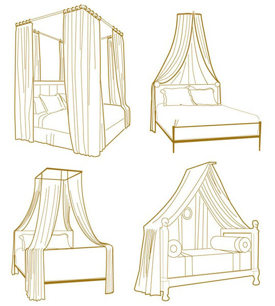 Tipos de camas con dosel - Cama dosel madera ...