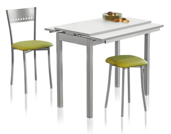Mesa cocina extensible fuente for Mesas para cocinas estrechas