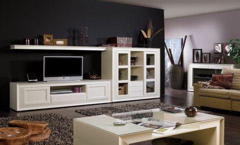 Muebles Lacados Blanco Para Salon.Salon De Mueble Lacado Blanco Muebles Pino Para El Salon