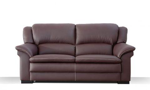Sof de piel 3 plazas con asientos de muelles y gran confort for Sofa gran confort precios