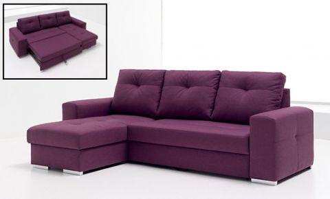 Sof cama convertible con chaise longue dise o tapizado for Sofa convertible en cama